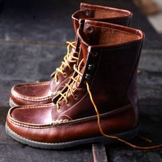 Red wing boots...I sometimes wish Ben and I wore the same shoe size.