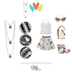 Our Triple Classic Necklace with The Black Wedge, Harlequin, and Zebra Dots! shanette.styledotshome.com