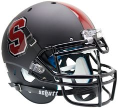 "Stanford Cardinal Authentic College XP Football Helmet Schutt ""Matte Black"""