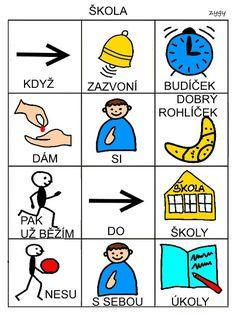 Pro Šíšu: Básničky i pro autíky Aurora, Language, Activities, Education, Learning, Pictogram, Adhd, Montessori, Logo