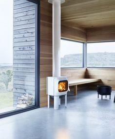 Jøtul F105LL wood stove. Black or white.