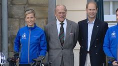 Sophie, Countess of Wessex sets off a week long palace-to-palace bicycle ride.