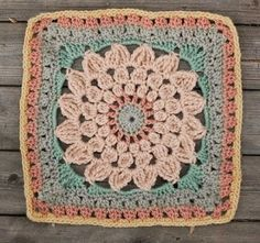 create: Kata - free crochet square pattern