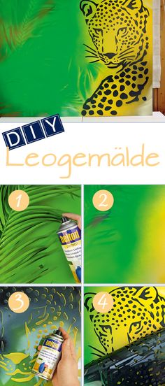 DIY Leogemälde: Ein tolles Wandbild mit belton Sprühlack in exotischem Flair. // DIY Leopard style: An exciting motive for your wall with an exotic flair made with belton spraypaint.
