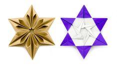 Origami Augustar Star Tutorial (José Meeusen)  Paper Kawaii #origami #paperkawaii