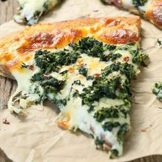 Roasted Garlic Spinach White Pizza