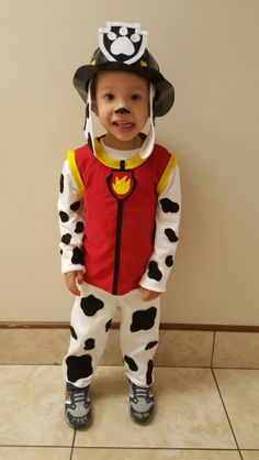 Paw patrol costume/marshall More costumes kids siblings Marshall Halloween Costume, Paw Patrol Halloween Costume, Marshall Costume, Toddler Boy Costumes, Toddler Boy Halloween Costumes, Baby Costumes, Paw Patrol Disfraz, Marshall Paw Patrol Costume, Cumple Paw Patrol