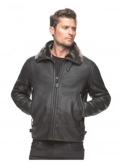 cc569be8e 45 Best Shearling Mens Coat images in 2015 | Coat, Jackets, Leather ...