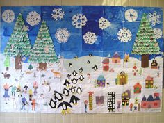 In the couple of weeks before we let out for Christmas Break, the elementary students created a Winter Mural. I wanted to do something diffe...