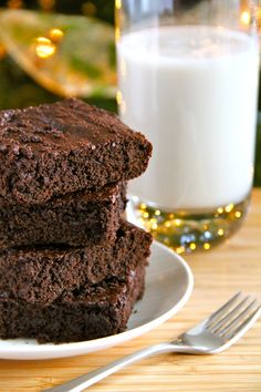 Lightened up Chocolate Gingerbread Brownies
