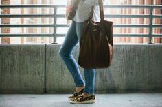 Fount Leather Goods Bellfield Tote in Hazelnut. Best bag EVER!!