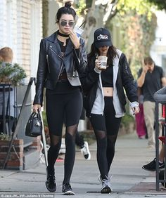 Hanging out: Kendall was enjoying a day off with a female friend as they strolled down Melrose Avenue