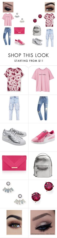 """""""3/1/17"""" by izzyjphillips on Polyvore featuring Aéropostale, MANGO, adidas Originals, Puma, Accessorize and Bloomingdale's"""
