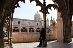 "Anisa inside Jeronimos Monastery. - ""The Best Things to Do in Belem (Lisbon)"" - Two Traveling Texans"