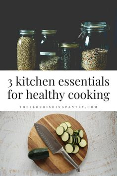 Essentials for healthy cooking from The Flourishing Pantry. Having a well-stocked kitchen with tasty ingredients aint gonna do you much good if you don't have the utensils to prepare them into delicious meals. So here are my top three items in the kitchen that I believe will take you to the next level when it comes to making healthy food. #TheFlourishingPantry #healthyeating #healthyfood #healthycooking #cookingtips Holistic Nutrition, Nutrition Tips, Health And Nutrition, Health And Wellness, Wellness Activities, Wellness Tips, How To Become Vegan, How To Stay Healthy, Spaghetti Squash Nutrition Info