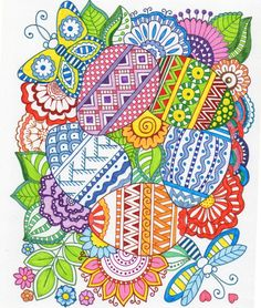 Easter Egg zentangle coloring