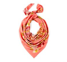 #Coral #Floral #Scarf <3