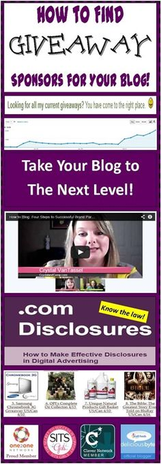 How to Find Giveaway Sponsors, Products to Review, and Advertisers for your Blog #learntoblog