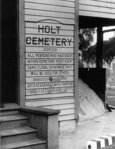 Owned by the City of New Orleans, Holt Cemetery was established in 1897 as a potter's field for the poor. The agreement with the city is for the $ 450 cost of each burial, each funeral plot is free for a family to use as long as they want & as long as the holders maintain their own plot. A multiple burial is allowed after one year plus a day following the preceding burial. Because the water table in New Orleans is high, grave diggers only dig 4 ½ feet down.