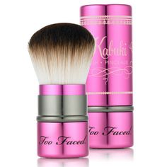 I was shown this by a Sephora employee - it it probably my favourite tool purchase next to my Clarisonic. No joke. The softness is almost indescribable. It's like having the softest teddy bear brush his paw against your cheek. I use it with everything from loose powder, bare minerals and my blush. I love the fact it is retractable and I can put it in my makeup bag because it is protected by the cap. I highly recommend this. If I lost it, I would run out and buy another the same day! xoxo