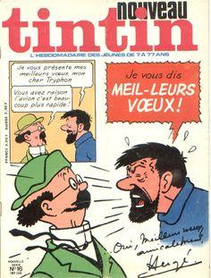 """Meilleurs Voeux du Capitaine Haddock ! L'un des personnages principaux de la bande dessinée """"Les Aventures de Tintin"""" créée par Hergé."""