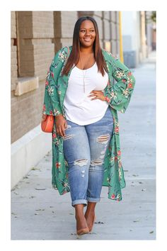 50 Fashionable Spring Outfits 2019 For Plus Size Women Look Plus Size, Plus Size Women, Plus Size Style, Curvy Outfits, Mode Outfits, Woman Outfits, Club Outfits, Curvy Girl Fashion, Look Fashion