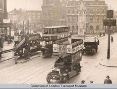 Lewisham Clocktower, 1922. Photograph 1998/85527 - Photographic collection, London Transport Museum