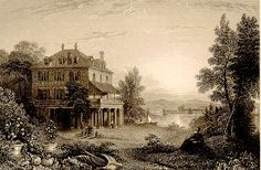 The Villa Diodati, Geneva, Switzerland, 1835