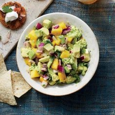 Mango Guacamole—great with chips or as a topping for fish or chicken tacos | CookingLight.com