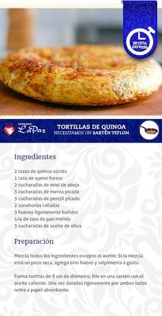 Tortilla de Quinoa Rice Recipes, Vegan Recipes, Chilean Recipes, Ideal Protein, Tortilla, Hot Dog Buns, Deserts, Food And Drink, Cooking