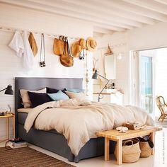 """3,983 gilla-markeringar, 17 kommentarer - IKEA Sverige (@ikeasverige) på Instagram: """"Sommar i sovrummet med luftiga naturmaterial och strandens egna kulörer: sandbeige och havsturkos,…"""""""