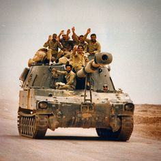Iranian M109A1 heading to frontlines of Iran-Iraq War.