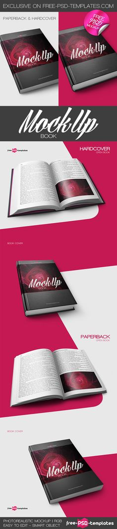 Free Book Mockup (221 MB) | free-psd-templates.com | #free #photoshop #mockup