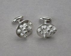 SMaddock Granulation Sterling Silver Cufflinks