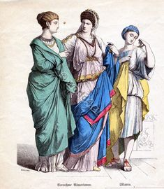 300 AD: upper class women's clothing (center)