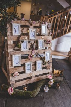 A forest boho wedding shoot in Oxfordshire Wooden pallet wedding table plan . Wedding Table Seating, Wedding Ceremony Ideas, Wedding Shoot, Wedding Themes, Wedding Table Plans, Wedding Tips, Trendy Wedding, Wedding Pallets, Wedding Timeline