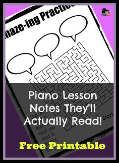 Want you piano students to read your lesson notes? Send them home with this FREE printable! | teachpianotoday.com #pianoteaching #pianolessons #pianoresources