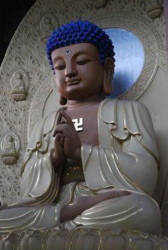Avatamsaka/Huayan Hall: statue of Vairocana(毗卢遮那佛(大日如来)) making Uttarabodhi Mudra  Picasa Web Albums - Cairong