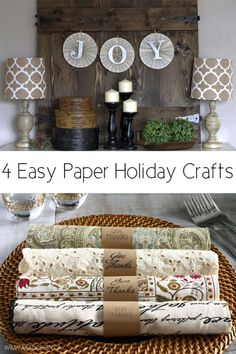 If you are tired of your Christmas decorations but find yourself on a tight holiday budget, consider making your own decorations to complement the rest of your décor. Using paper products like canvas, sheet music, and paper bags, you can create numerous home decorations that look expensive but cost much less than decorations from a store. These paper decorations are easy to make and fun to put together when you follow along with this eBay guide.