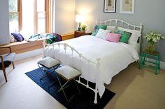 Josh & Jenna's, the block. Beautiful grey in Wattyl Snowdonia strength. This is the colour of brontes room Dream Bedroom, Home Bedroom, Bedroom Wall, Bedroom Decor, Bedroom Ideas, Master Bedroom, Pretty Bedroom, Bedroom Inspo, Interior Architecture