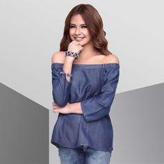 Filipina Actress, Off Shoulder Blouse, Dancer, Ruffle Blouse, Actresses, Model, Tops, Fashion, Female Actresses
