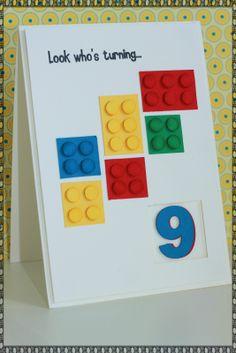 Show Me The Love: Lego Card - Boys 9th Birthday
