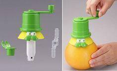 Fruit juice straw
