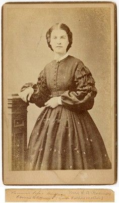 Cab Card of Hanna Grandmother of Louise Roemer 1860s CDV Newark NJ | eBay