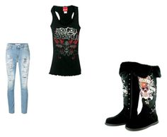 """""""Untitled #2096"""" by mrs-sanders ❤ liked on Polyvore featuring IRO and Ed Hardy"""