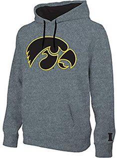 3bd1f6d0fb9c Amazon.com : Elite Fan Shop Iowa Hawkeyes Hooded Sweatshirt Captain Gray -  XL : Sports & Outdoors