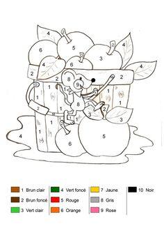 Coloriage magique - Les pommes