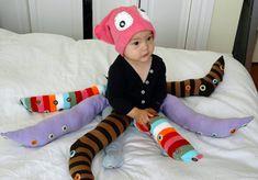 Disfraz de pulpo megafácil con calcetines y leotardos!!!