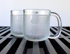 Two Vintage Arabia Iittala Krouvi Glass Beer Mugs - Finland Glass Beer Mugs, Kitchenware, Tableware, Finland, 1970s, Pride, Interior Design, Fall, Unique Jewelry