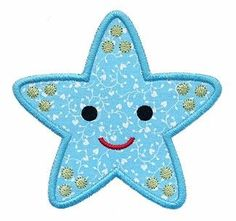 Free Embroidery Design: Starfish Applique - I Sew Free